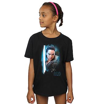 Star Wars Girls The Last Jedi Rey Brushed T-Shirt