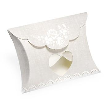 Club Green Rose Hessian Pillow With Heart Window (Pack Of 10)