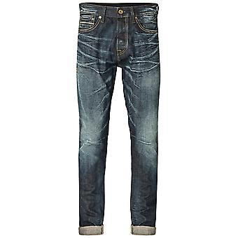 Jack and Jones Erik Royal RDD 031 Jeans Faded Tapered Leg Carrot Fit