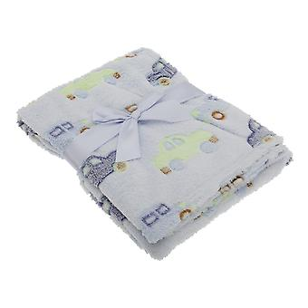 Baby Boys Car And Truck Supersoft Wrap Fleece Blanket