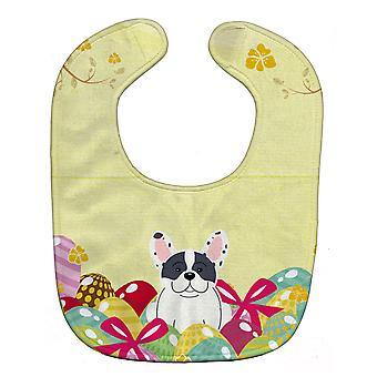 Carolines Treasures  BB6011BIB Easter Eggs French Bulldog Piebald Baby Bib