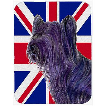 Skye Terrier with English Union Jack British Flag Mouse Pad, Hot Pad or Trivet