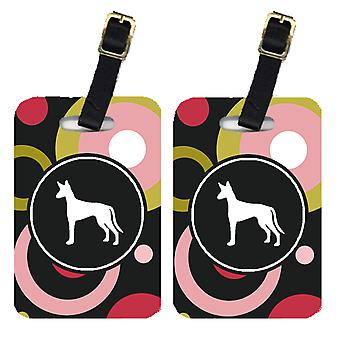 Carolines Treasures  KJ1134BT Pair of 2 Ibizan Hound Luggage Tags