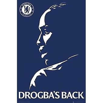 Chelsea FC Didier Drogbas zurück Plakat Poster drucken