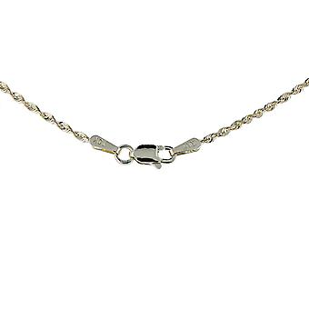 10k Yellow Gold Solid Extra Light Diamond Cut Rope Chain Necklace, 1.5mm