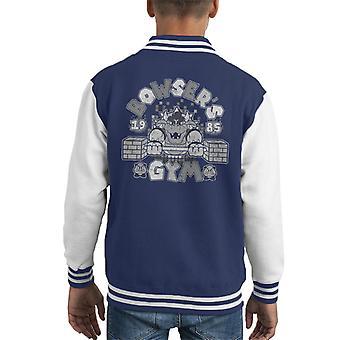 Bowsers Gym Super Mario Kid's Varsity Jacket