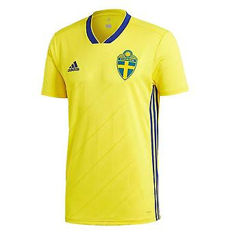 2018-2019 Schweden Home Adidas Fußballtrikot