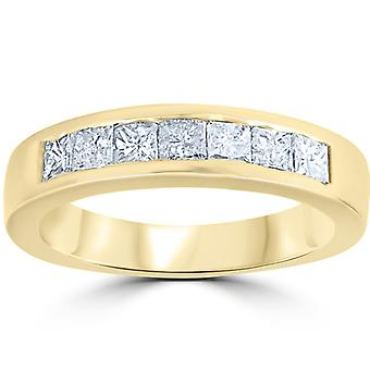 1ct Princess Cut Diamond bruiloft verjaardag Ring 14k Yellow Gold