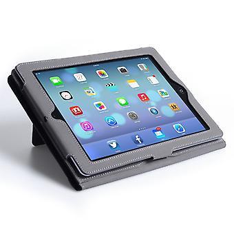 Caseflex Ipad Air Textured Leather-Effect Hand Strap Case - Black