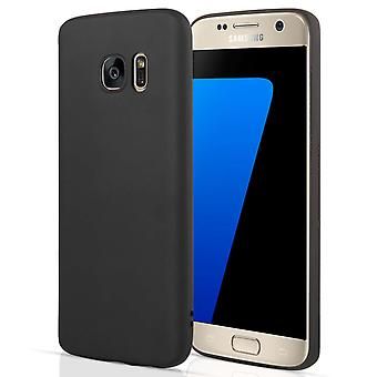 Samsung Galaxy S7 Matte Silicone Gel Case - Black