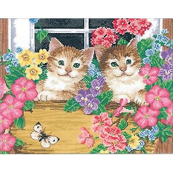 Whiskers At The Window Counted Cross Stitch Kit-14