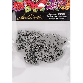 Stampendous Laurel Burch Cling Stamp -Love Cat Angel LBCP010