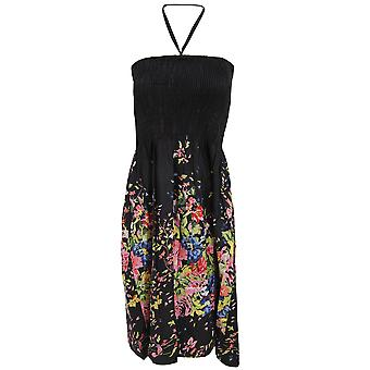 Ladies/Womens Floral and Leaf Printed 3 in 1 Summer Dress/Skirt
