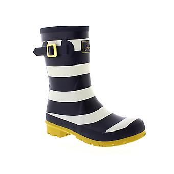 Molly joules Welly - marine Wide Stripe (artificielles) Womens Wellies