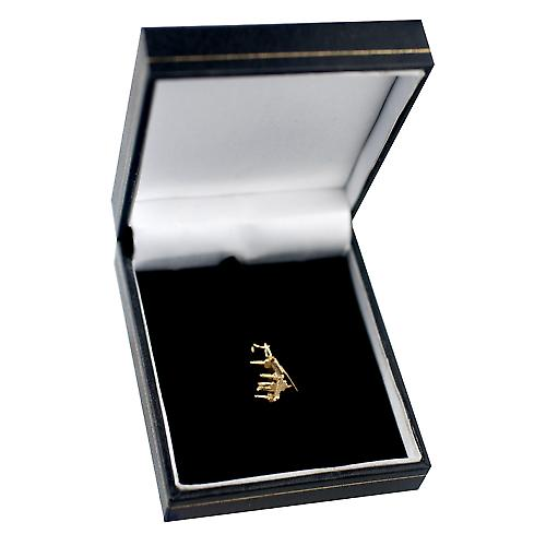9ct Gold 13x12mm open Grand piano pendant or charm
