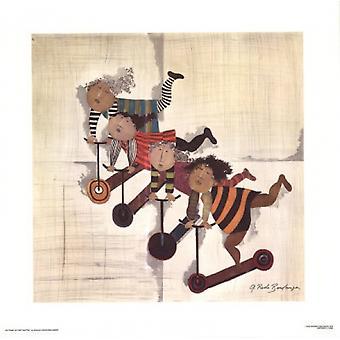 Impresión de Poster Inettes les trote por Graciela Rodo Boulanger (25 x 25)