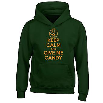 Keep Calm Give Me Candy Funny Halloween Costume Kids Hoodie 10 Colours (S-XL) by swagwear