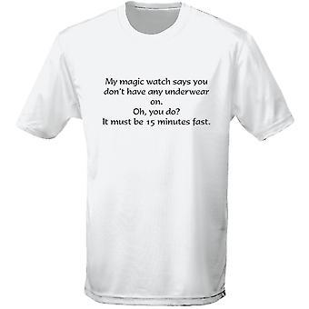 Magic Watch No Underwear Rude Explicit Mens T-Shirt 10 Colours (S-3XL) by swagwear