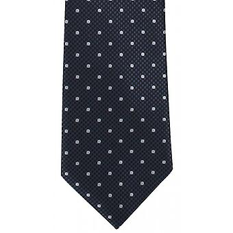 Michelsons of London Puppy Tooth Spot Polyester Tie - Grey