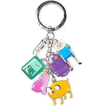Adventure Time Keyring Keychain With Charms new Official Metal