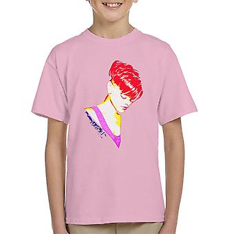 Rihanna With Red Hair Kid's T-Shirt