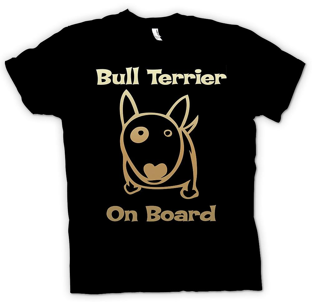 Mens t-shirt - Bull Terrier a bordo - Funny