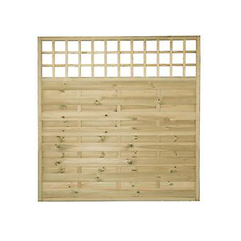 Forest Garden Europa Montreal 6ft Wooden Fence Panel with Trellis Top