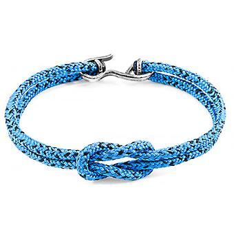 Anchor and Crew Foyle Silver and Rope Bracelet - Blue Noir
