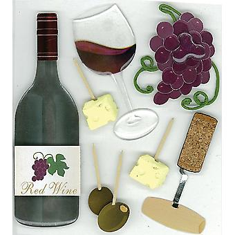 Jolee's Boutique Dimensional Stickers-Wine Tasting