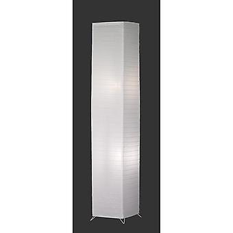 Trio Lighting Bamboo Modern White Paper Floor Lamp