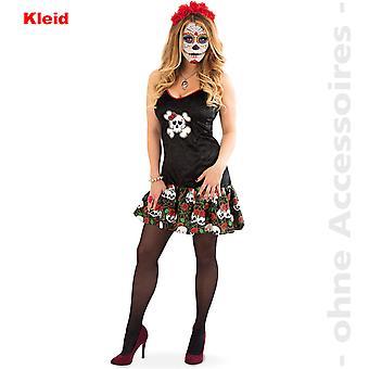 Skull dress ladies costume day of the dead Halloween ladies costume El Muerto