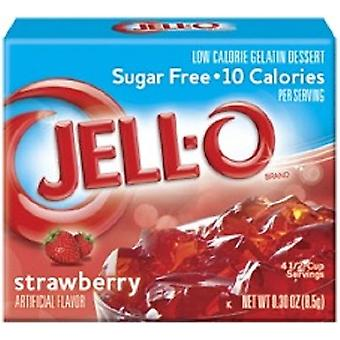 Jell-O Strawberry Sugar Free Instant Jello Gelatin Mix