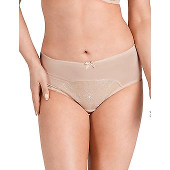 Nessa P1 Women's Diana Beige Solid Colour Knickers Panty Brief