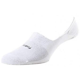 Pantherella Footlet Egyptian Cotton Foot Liner Socks - White