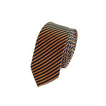 Tie slips tie slips 6cm mörkblå gul randig Fabio Farini