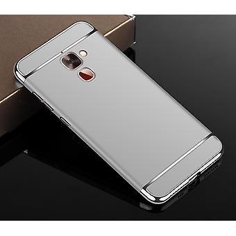 Handy Hülle Schutz Case für LG G6 Bumper 3 in 1 Cover Chrom Etui Silber