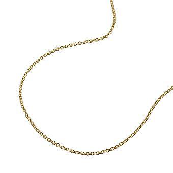 Chaîne de l'ancre d'or, 38 cm, chaîne fine, 9 KT or 375 Collier or