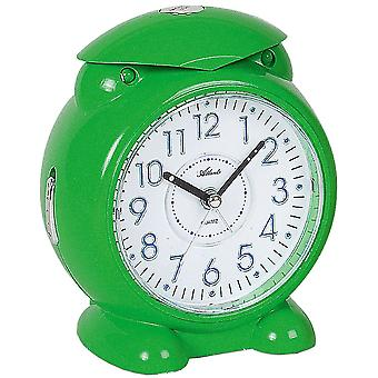 Atlanta 1985/6 alarm clock for children quartz analog kids alarm clock green with light