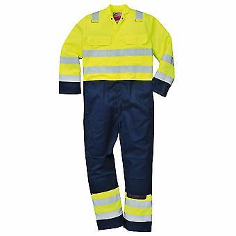 PORTWEST - Hi-Vis Pro Bizflame antistatico resistente alla fiamma tuta Workwear