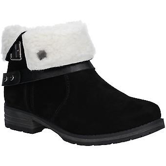 Fleet & Foster Womens Soda Leather Winter Casual Ankle Boots