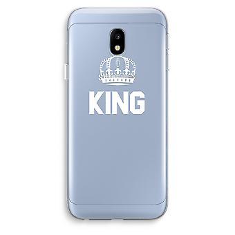 Samsung Galaxy J3 (2017) Transparent Case (Soft) - King black