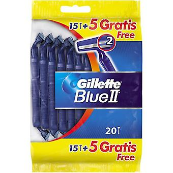 Gillette Blue Ii Shavers 20 Units (Hygiene and health , Shaving , Knives and knives)