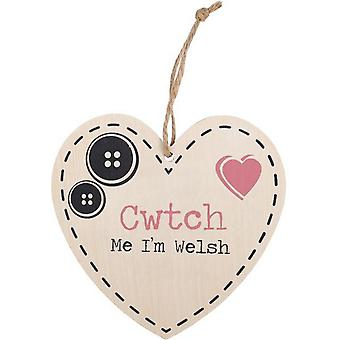 Something Different Cwtch Me I'm Welsh Hanging Heart Sign