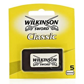 Wilkinson Sword klasyczne podwójne ostrze (DE) Razorblades - Pack 5s
