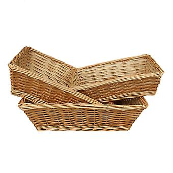 Tapered Split Willow Tray Set of 3