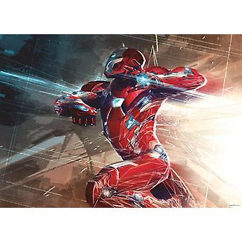 Iron Man Maxi Poster Decorazione Cameretta 160x115cm