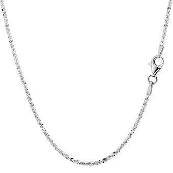 Sterling prata ródio chapeado Sparkle colar, 2,2 mm