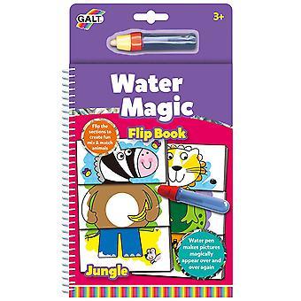 Galt Water Magic Flip Book Jungle, Colouring Book for Children