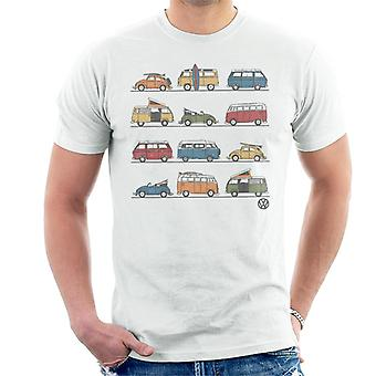 Official Volkswagen Vans And Beetles Men's T-Shirt