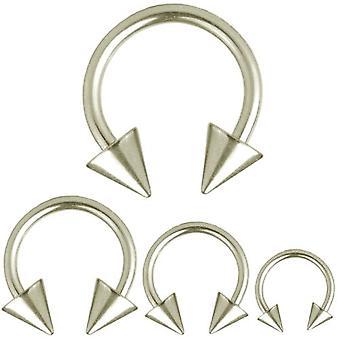 Circular Barbell Horseshoe Piercing Spikes, Body Jewellery, Thickness 1,2 mm | Diameter 6 - 12 mm